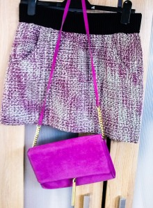 Skirt and bag - H&M