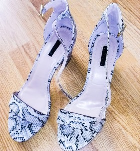 Snakeskin Mid heels - Peacocks £14.99