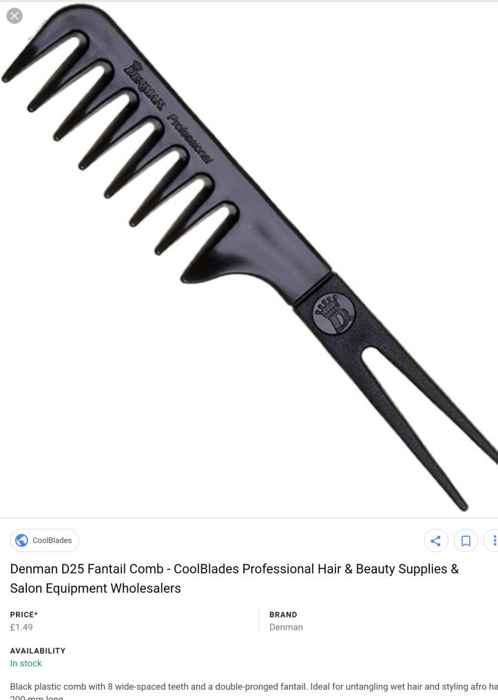 Denman D25 fantail comb